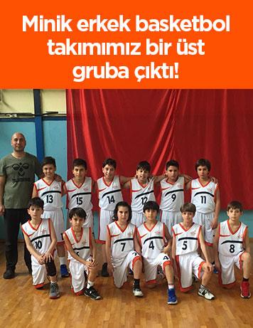 Minik erkek basketbol takımımız bir üst gruba çıktı!