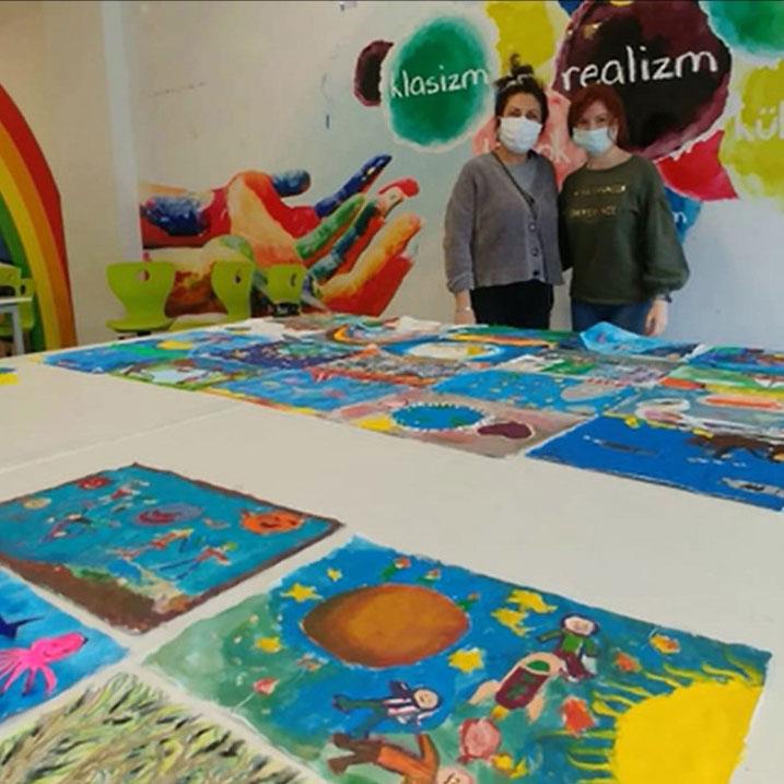 Sevinç Koleji Görsel Sanatlar Bölümü ve E.Ü. Eğitim Fak. Sosyal Sorumluluk Projesi