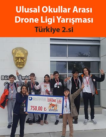 Ulusal Okullar Arası Drone Ligi Yarışmaı Türkiye 2.si